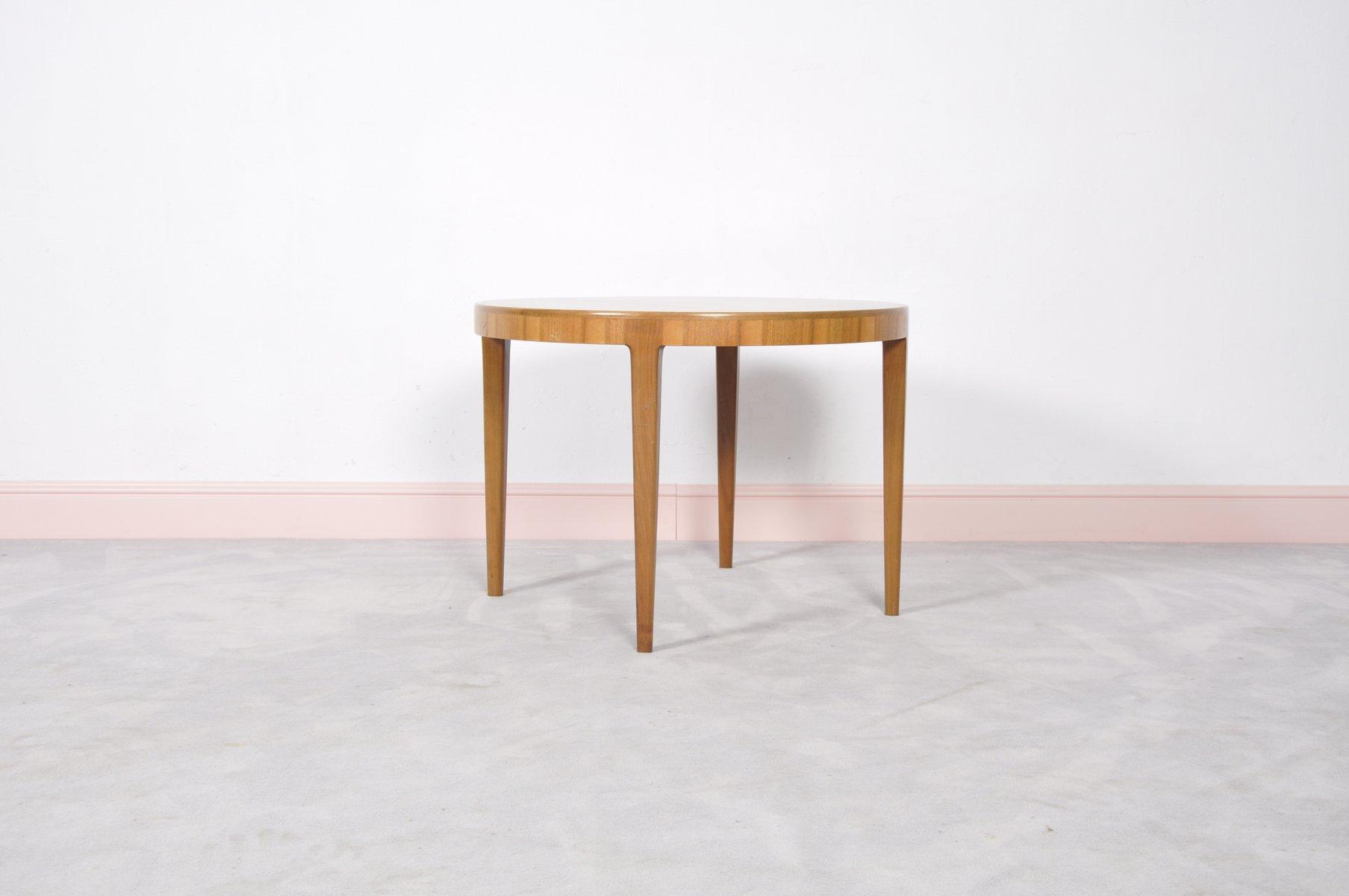 Mid Century Round Danish Teak Coffee Table 1960s