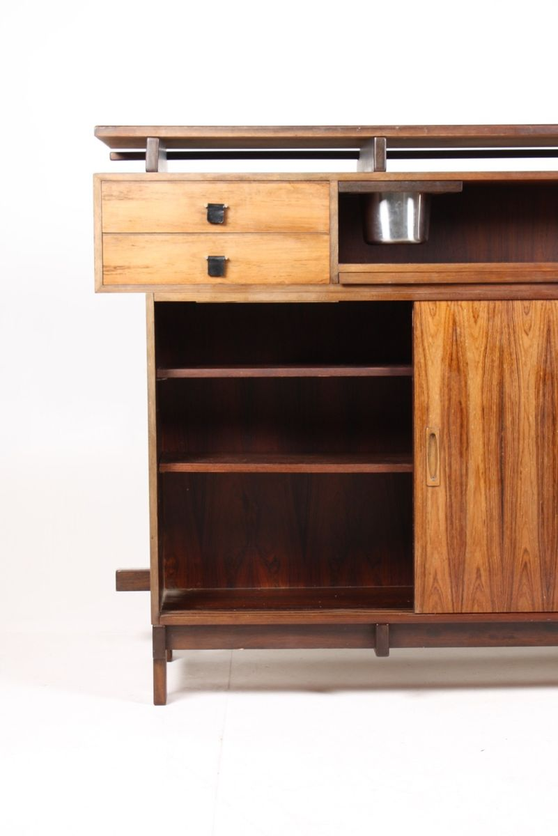 Dry Bar And Wine Cabinet Mid Century Rosewood Dry Bar Cabinet From Dyrlund  ...