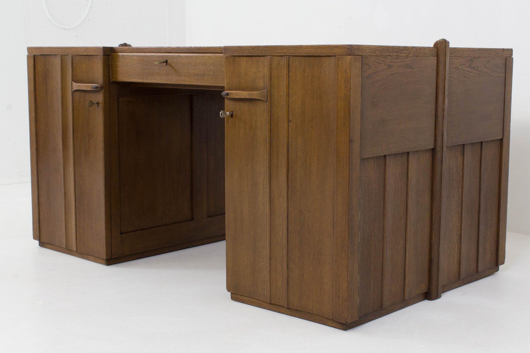 art deco amsterdamer schule schreibtisch von paul bromberg f r pander 1924 bei pamono kaufen. Black Bedroom Furniture Sets. Home Design Ideas