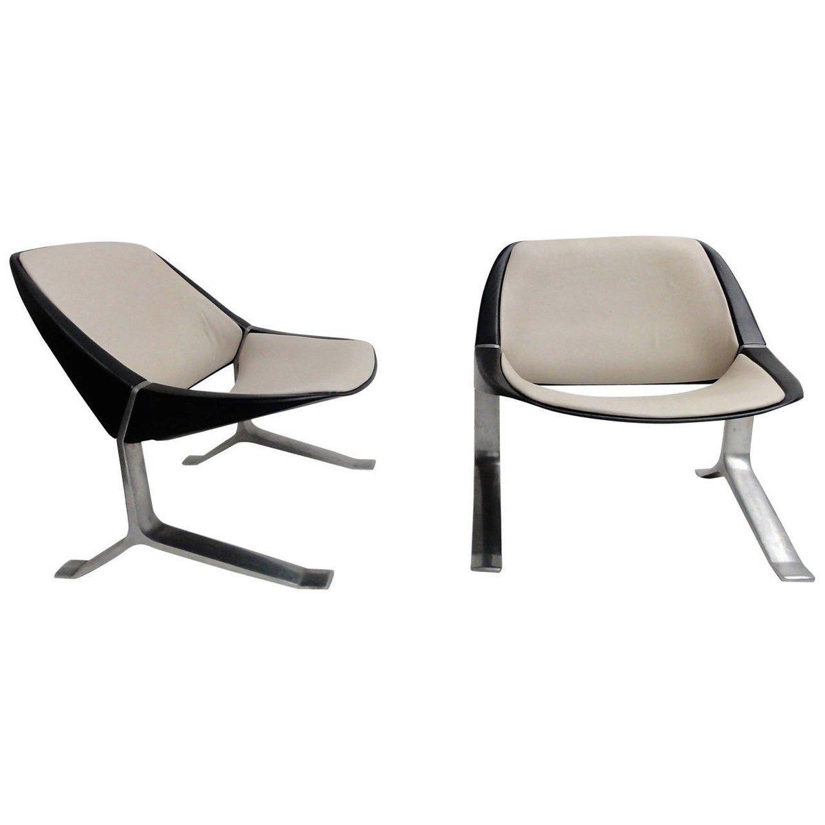 Vintage Sessel von Knut Hesterberg, 1970er, 2er Set