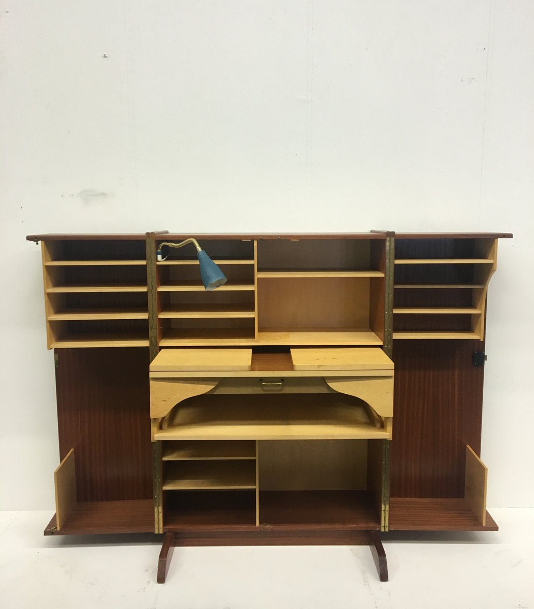 Mid Century Cabinet With Fold Out Desk By Mummenthaler