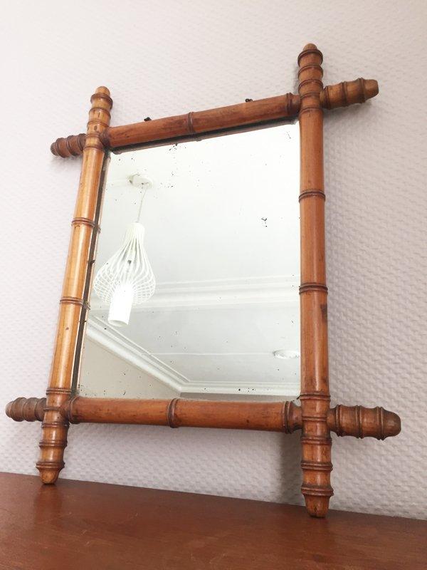 spiegel mit skuplturalem holzrahmen 1940er bei pamono kaufen. Black Bedroom Furniture Sets. Home Design Ideas
