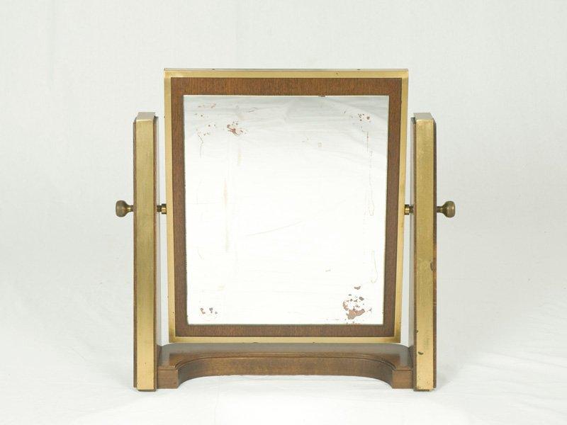 Specchio da tavolo in legno e ottone italia anni 39 60 in vendita su pamono - Specchio da tavolo ...