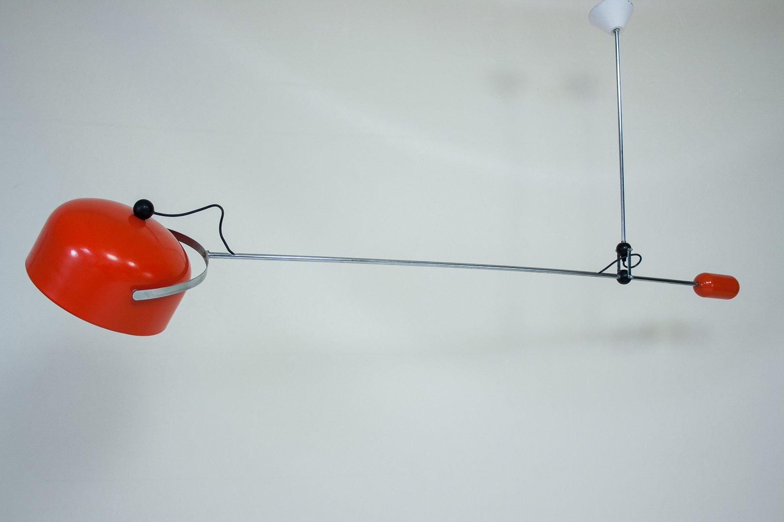 Orangefarbene Vintage Gegengewicht Lampe von J. J. Hoogervorst für Anv...