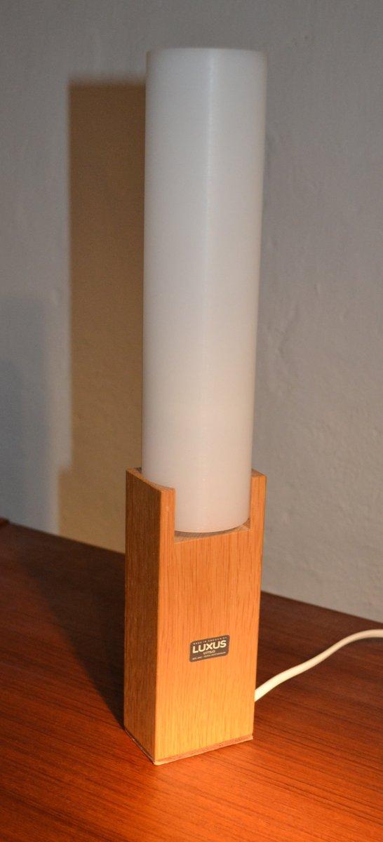 Mid-Century Eichenholz Tischlampe von Uno & Östen Kristiansson für Lux...