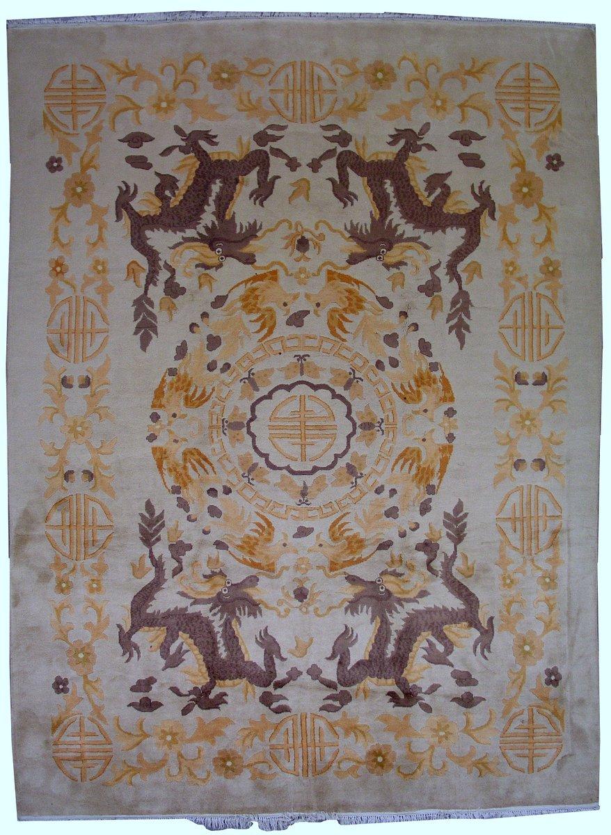 Handgekn pfter chinesischer vintage art deco teppich - Art deco teppich ...