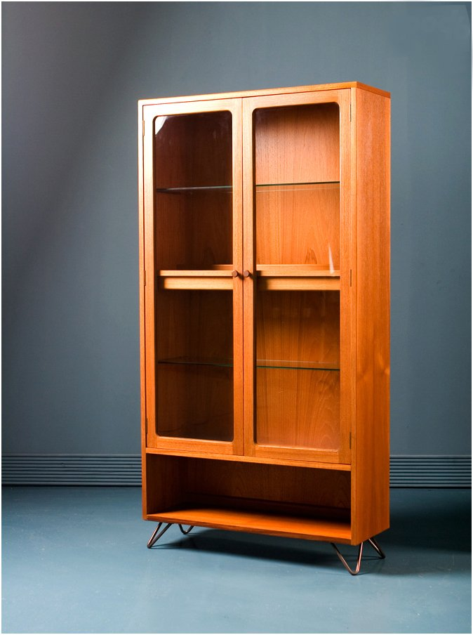 b9290da6b210 Mid-Century Teak Glass Display Drinks Cabinet from G-Plan for sale ...