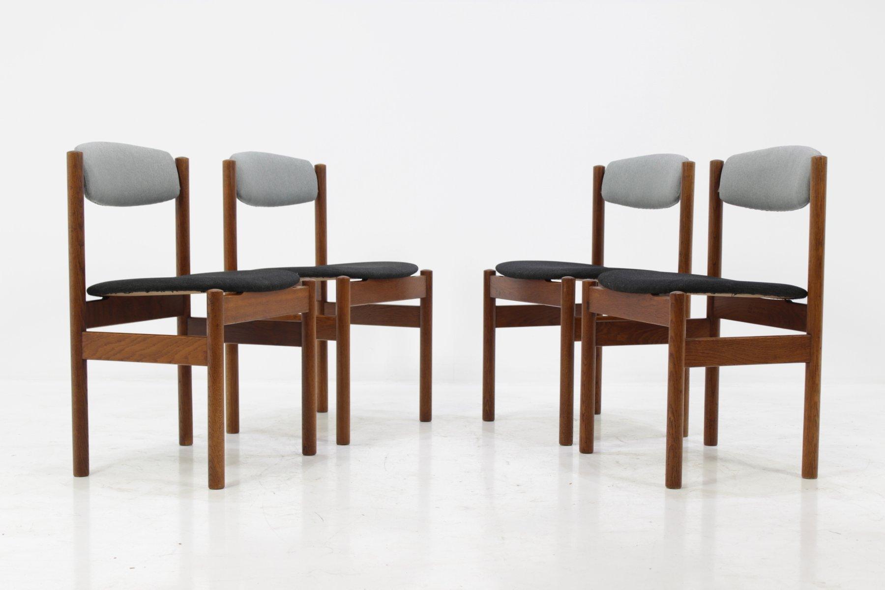 chaises de salle manger vintage de fdb m bler danemark 1960s set de 4 en vente sur pamono. Black Bedroom Furniture Sets. Home Design Ideas