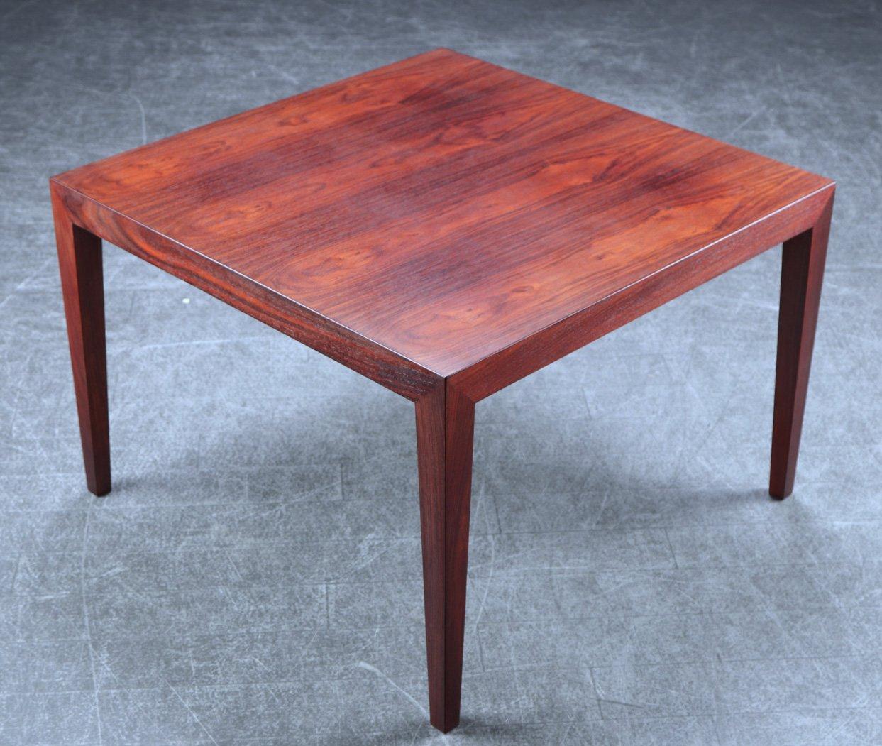 table d appoint carr e en palissandre par severin hansen pour haslev 1960s en vente sur pamono. Black Bedroom Furniture Sets. Home Design Ideas