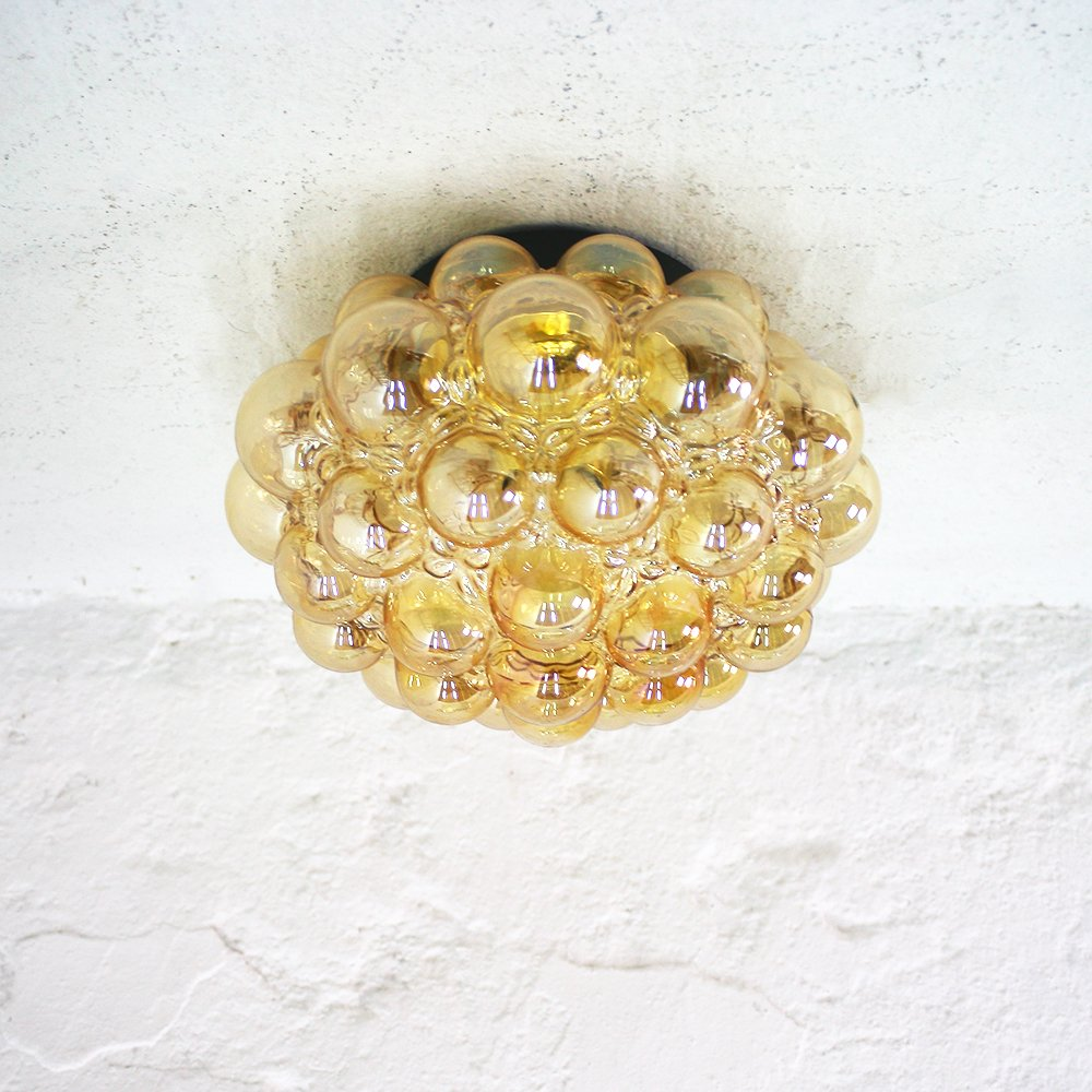 Große Mid-Century Deckenlampe von Helena Tynell für Glashütte Limburg