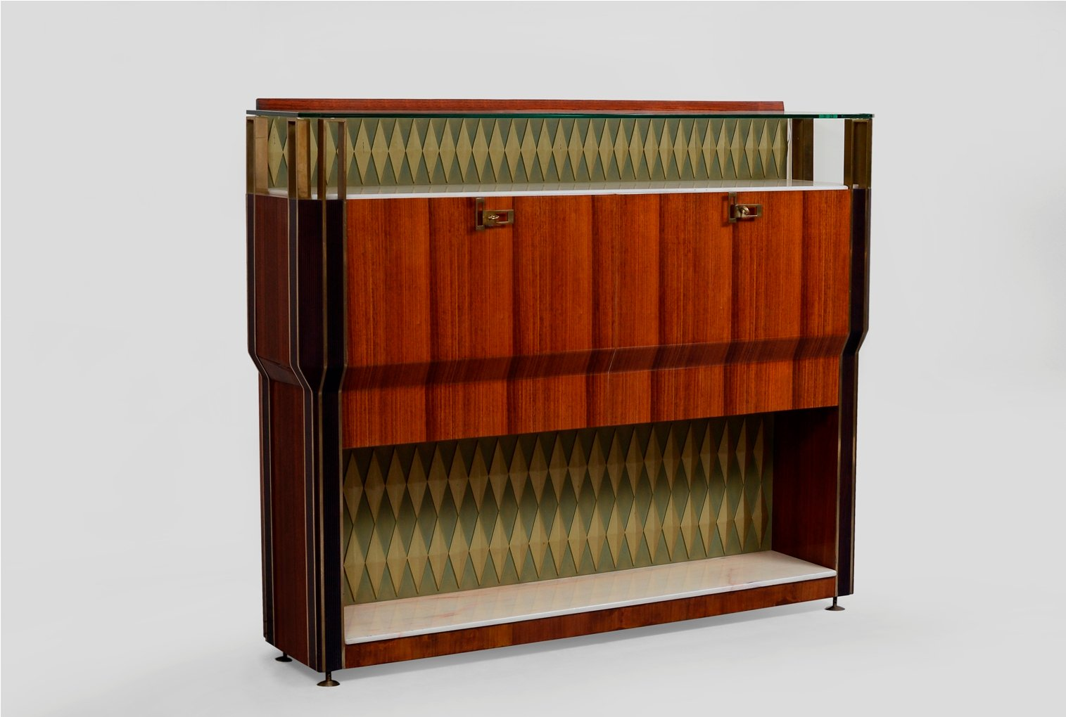 Vintage Bar Cabinet By Vittorio Dassi For Consorzio Esposizione Mobili Cantù