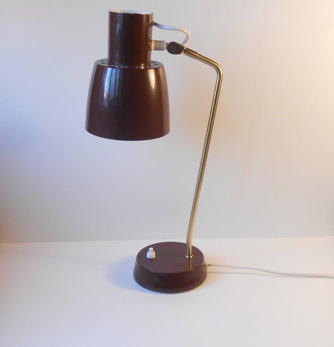Dänische Modernistische Mid-Century Tischlampe von Coronell, 1970er