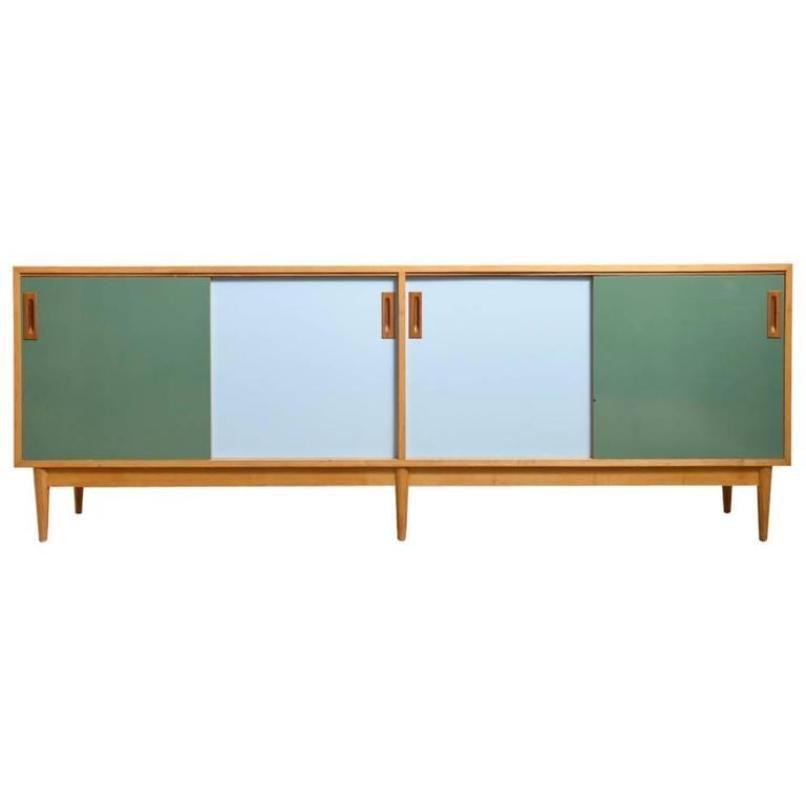 Großes Farbiges Sideboard mit Schiebetüren von Jos De Mey für Van den ...