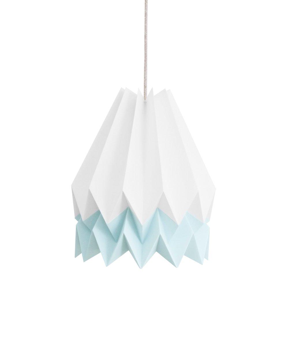 Origami Lampenschirm in Weiß & Blau von Orikomi
