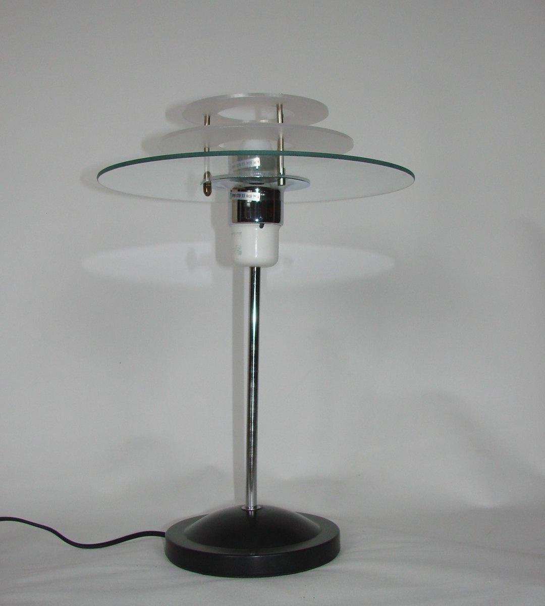 vintage tischlampe aus metall glas 1970er bei pamono kaufen. Black Bedroom Furniture Sets. Home Design Ideas
