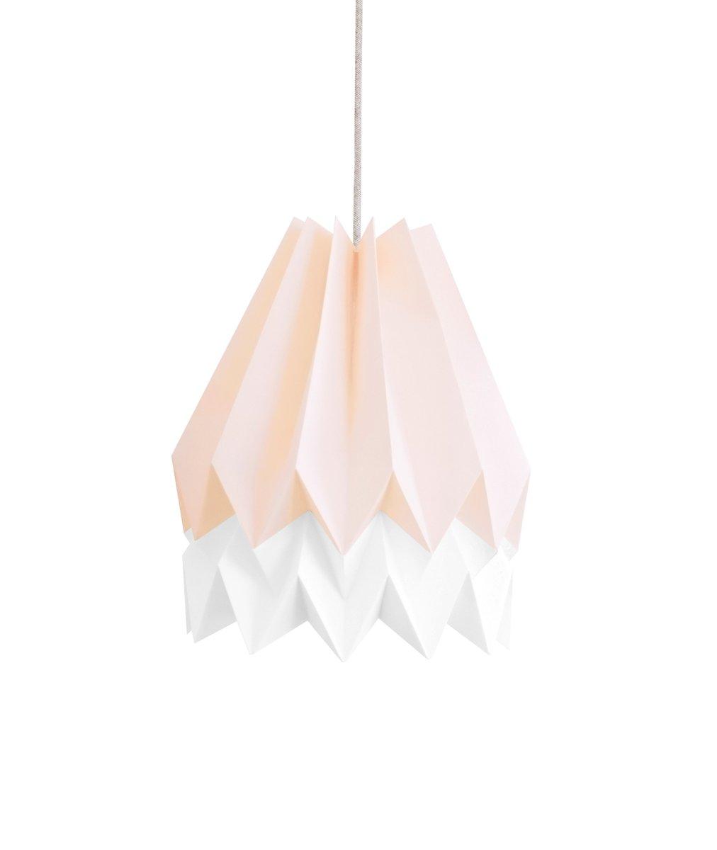 Origami Lampenschirm in Rosa & Weiß von Orikomi