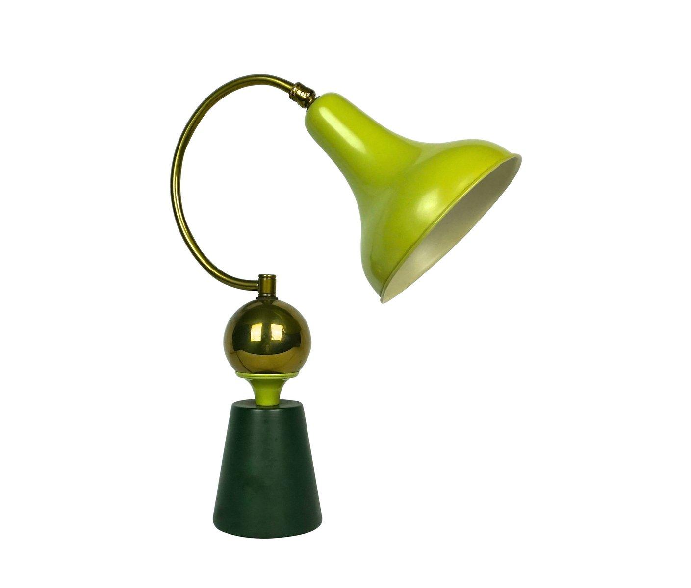Lampada da tavolo color verde mela francia anni 39 50 in vendita su pamono for Lampada da tavolo verde