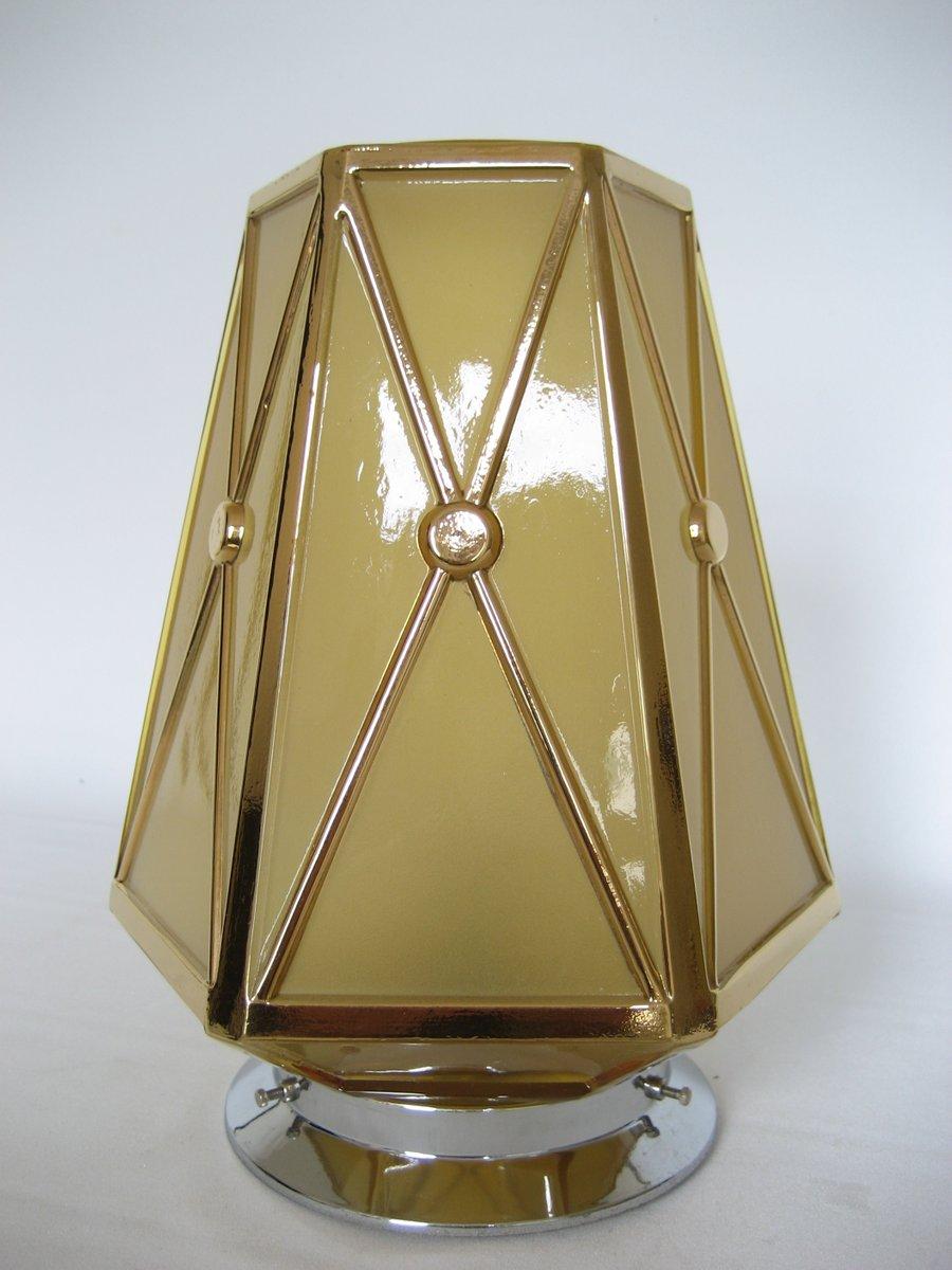 Art Deco Deckenlampe mit Hexagonalem Schirm