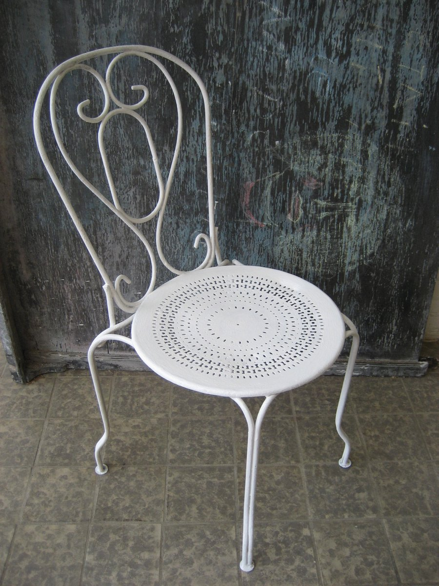 Vintage French Metal Garden Chair