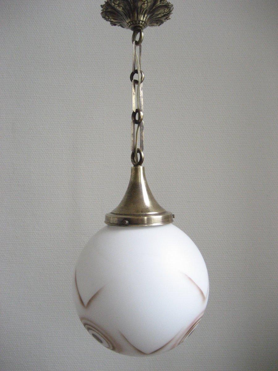 lampe suspension art d co avec sph re en verre en vente sur pamono. Black Bedroom Furniture Sets. Home Design Ideas