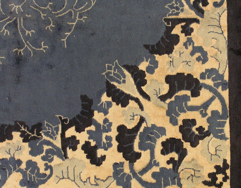 handgekn pfter chinesischer art deco teppich 1920er bei pamono kaufen. Black Bedroom Furniture Sets. Home Design Ideas