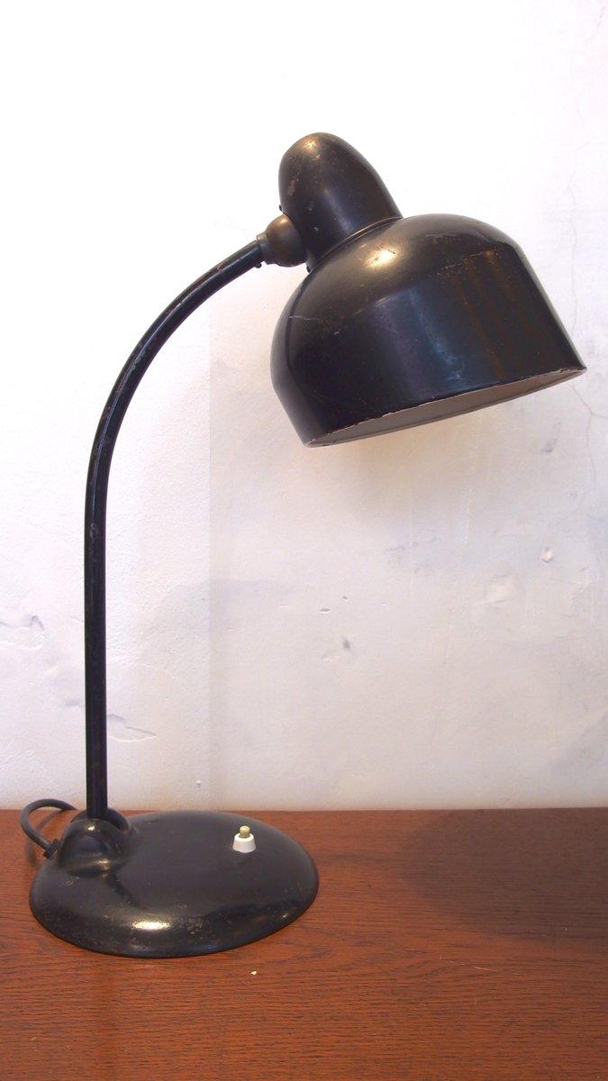 Schwarze Industrielle Tischlampe von Escolux