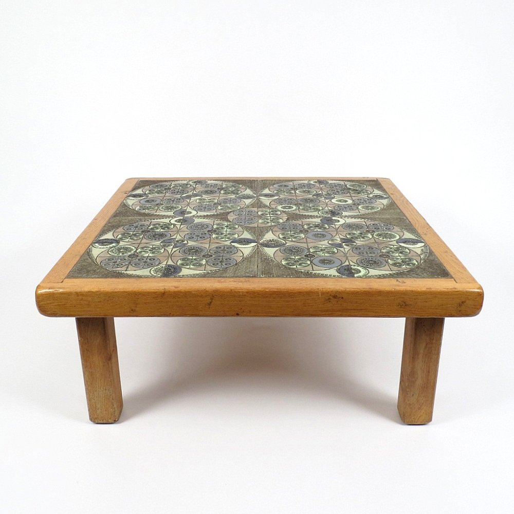 Couchtisch mit Keramikplatte von Pinson, 1960er