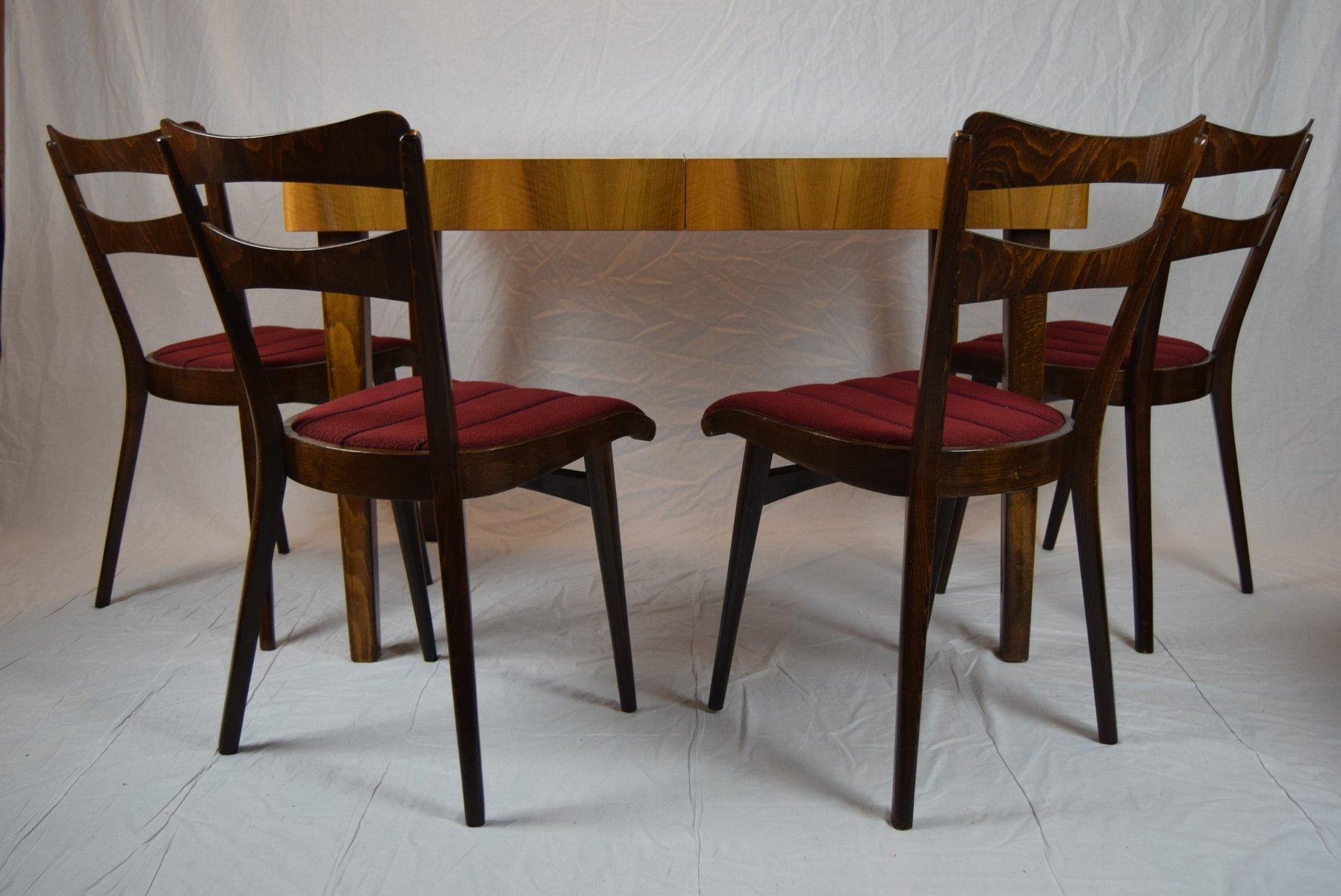 Teak Esstisch mit Vier Stühlen, 1960er
