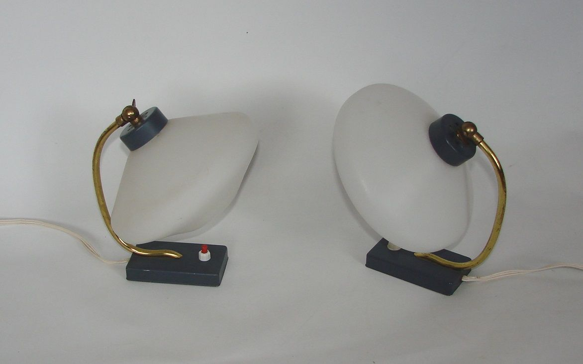Moderne Nachtlampen, 1960er, 2er Set
