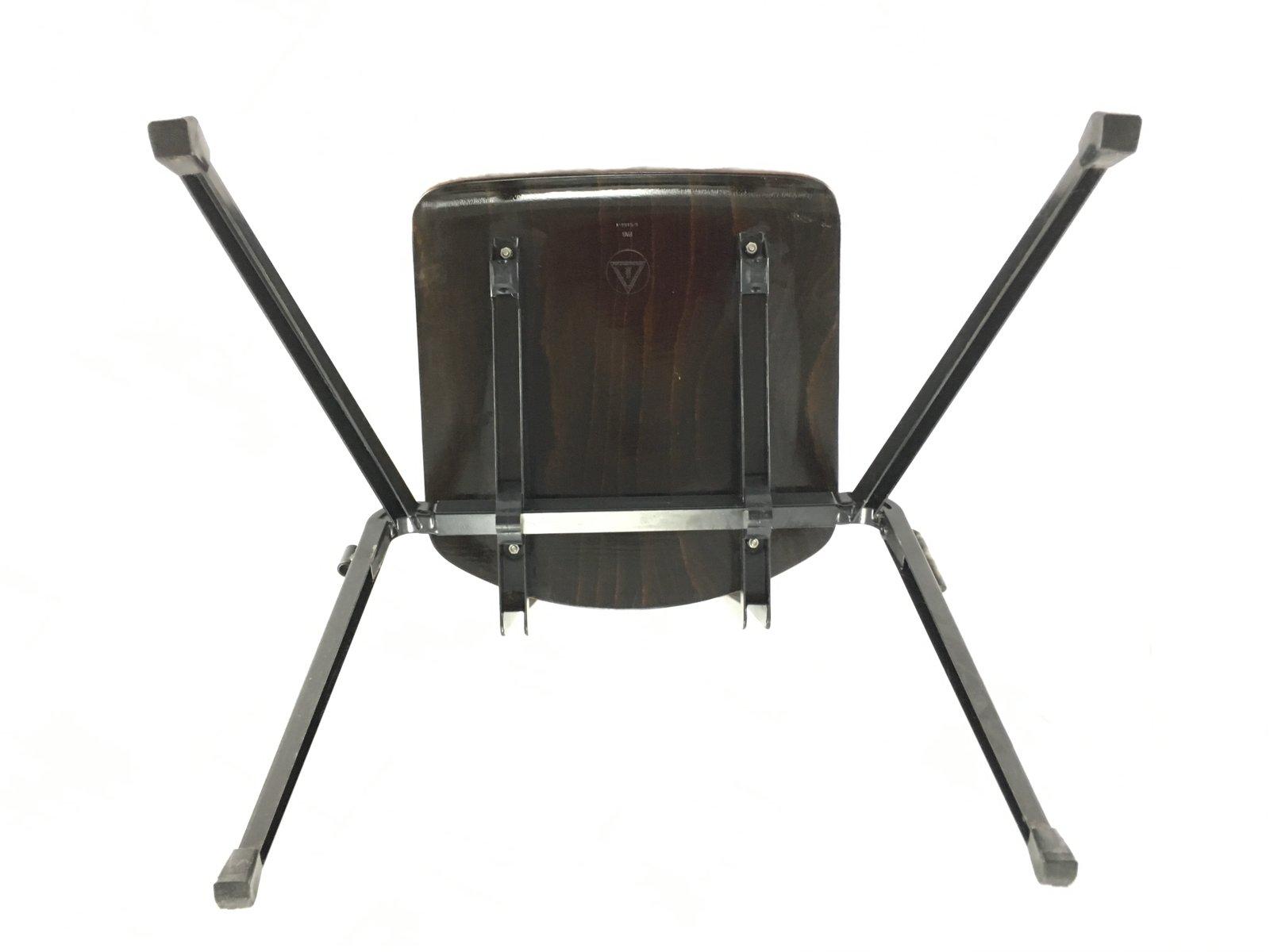 chaise noire industrielle empilable de galvanitas en vente sur pamono. Black Bedroom Furniture Sets. Home Design Ideas