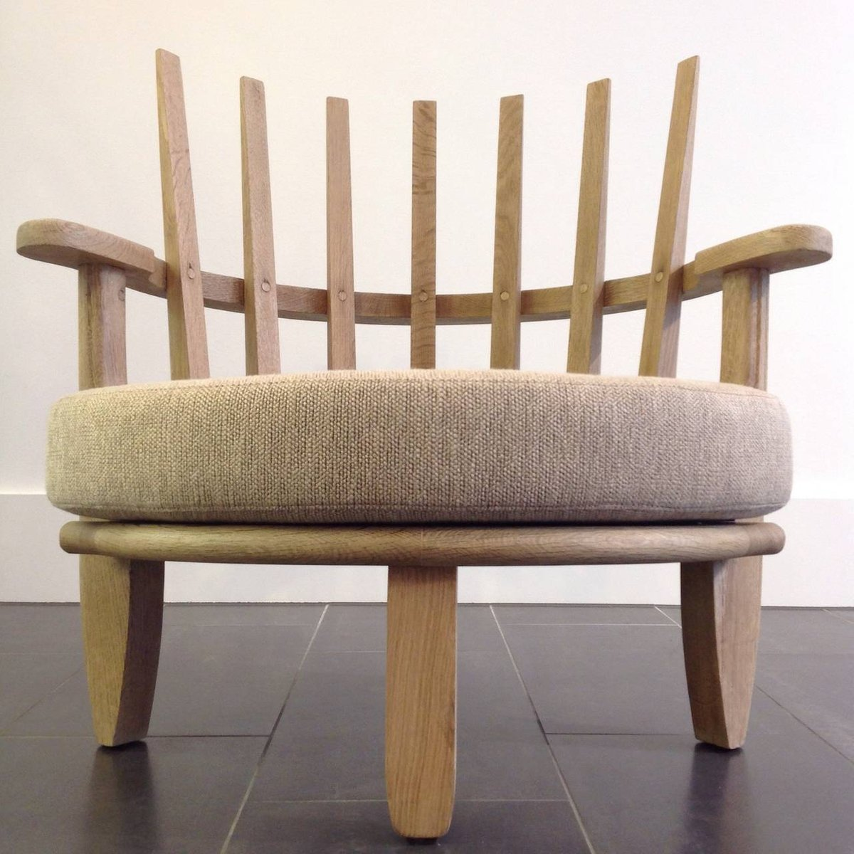 mid century sessel von guillerme et chambron 1960er 2er set bei pamono kaufen. Black Bedroom Furniture Sets. Home Design Ideas