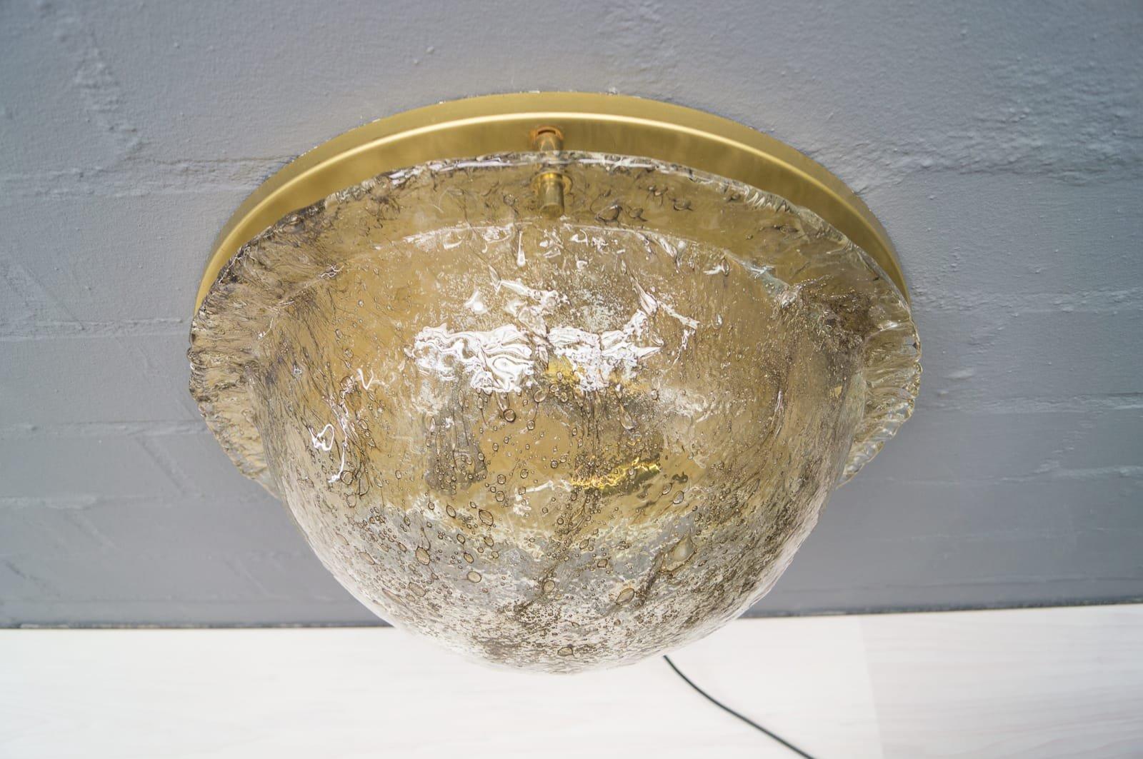 Große Rauchglas Deckenlampen von Cossack, 1960er, 2er Set