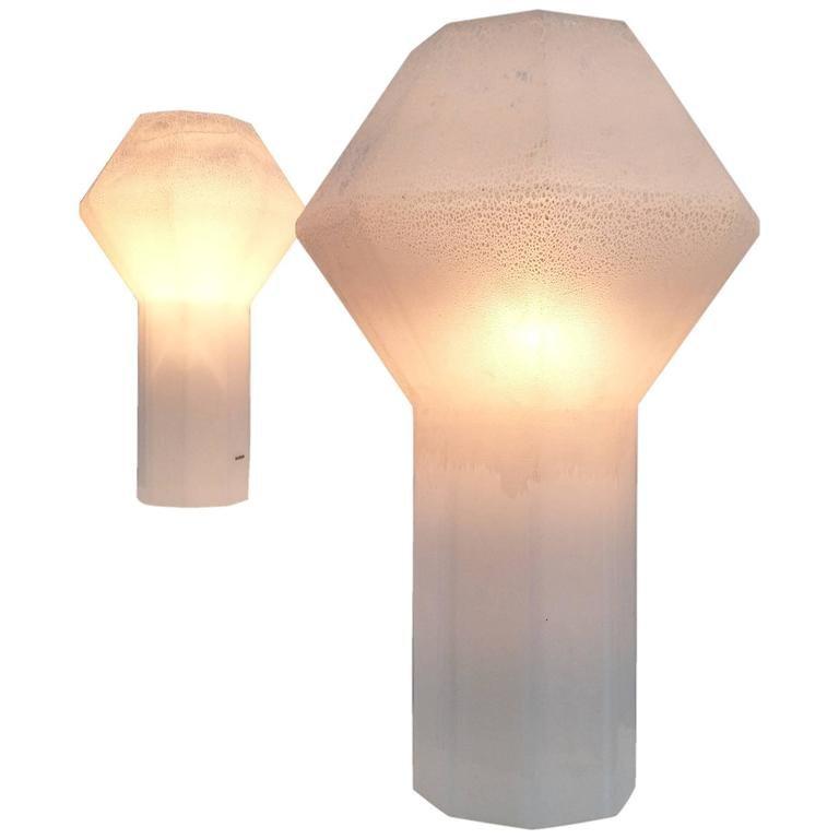 Kleine & Große Murano Glas Stehlampen von Alfredo Barbini, 1970er, 2er...