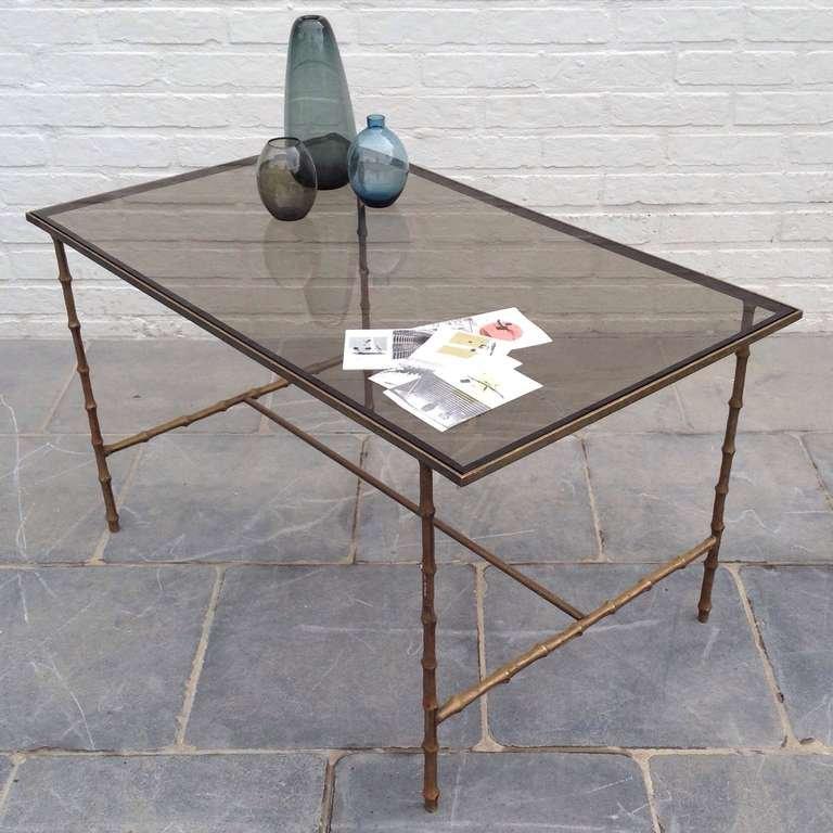 table d 39 appoint avec pieds en bambou artificiel de maison bagues 1962 en vente sur pamono. Black Bedroom Furniture Sets. Home Design Ideas