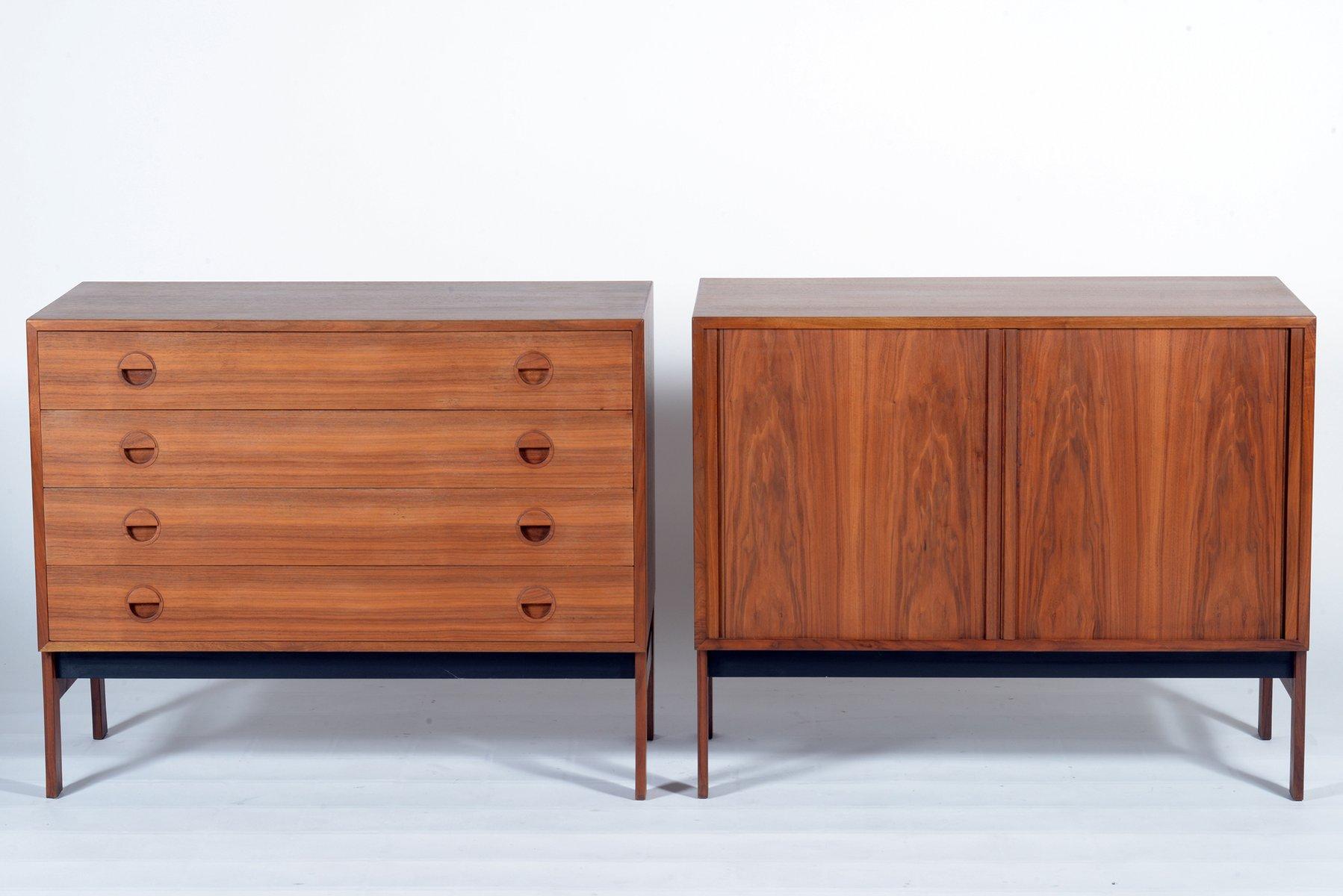 Mid Century Danish Credenza : Danish mid century teak wood chest and credenza 1955 bei pamono kaufen