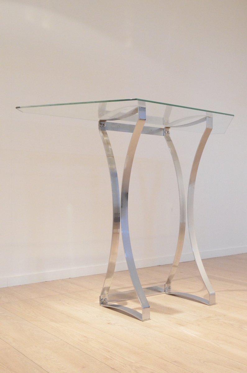 Consolle da ingresso in vetro trasparente e con struttura for Consolle vetro