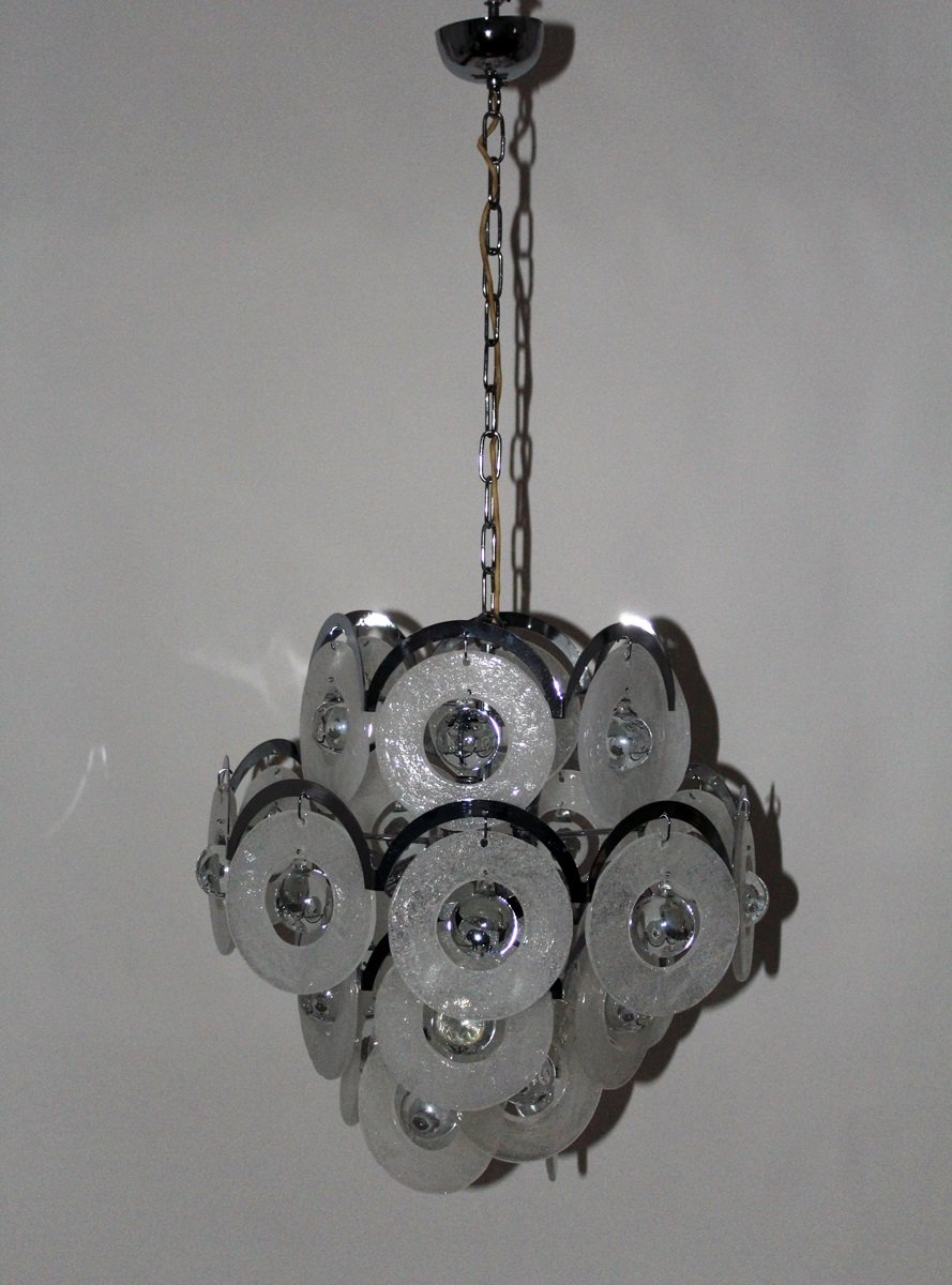 Vintage Murano Glass Chandelier from Vistosi, 1960s - Vintage Murano Glass Chandelier From Vistosi, 1960s For Sale At Pamono