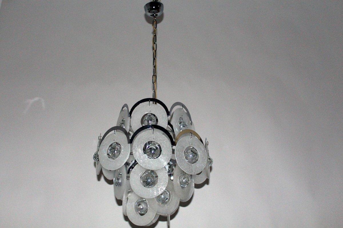 Lampadario In Legno Wood Mania : Lampadario vintage in vetro di murano di vistosi anni in