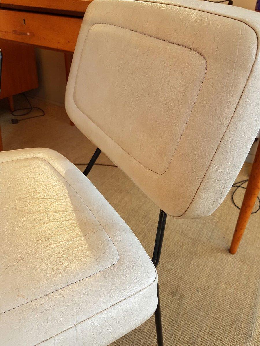 chaise cm196 par pierre paulin pour thonet 1950s en vente sur pamono. Black Bedroom Furniture Sets. Home Design Ideas
