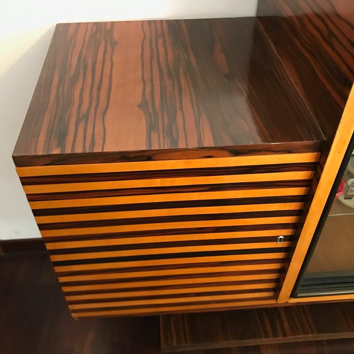enfilade art d co en broussin de noyer italie 1920s en vente sur pamono. Black Bedroom Furniture Sets. Home Design Ideas