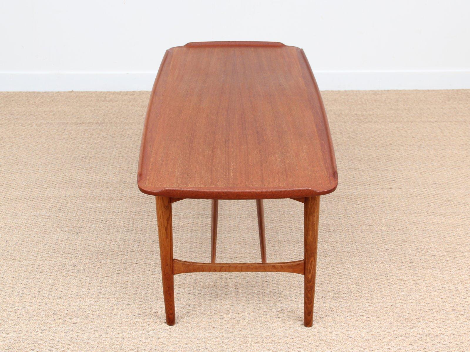 Table basse mid century en teck 1950s en vente sur pamono - Table basse en teck ...