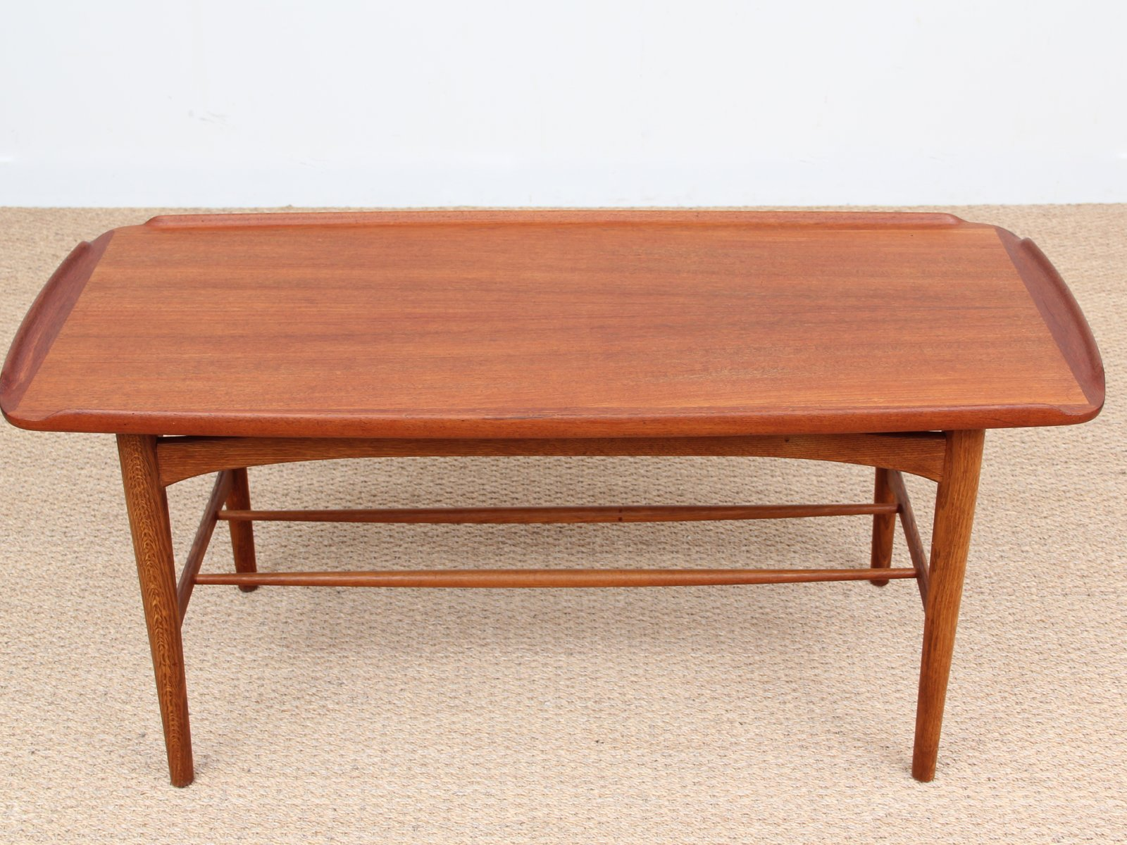 mid century coffee table in teak 1950s for sale at pamono. Black Bedroom Furniture Sets. Home Design Ideas