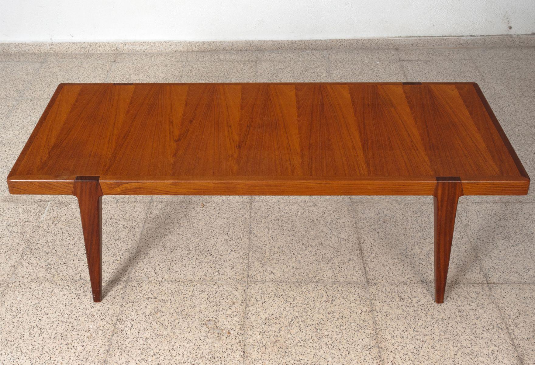 Mesa de centro sueca de teca a os 60 en venta en pamono - Mesa de teca ...
