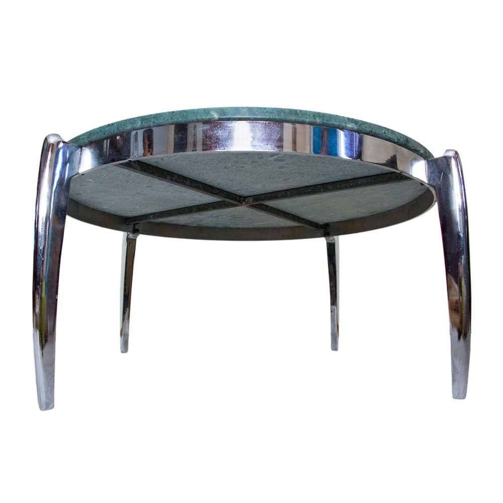 table basse en marbre et acier inoxydable 1970s en vente. Black Bedroom Furniture Sets. Home Design Ideas