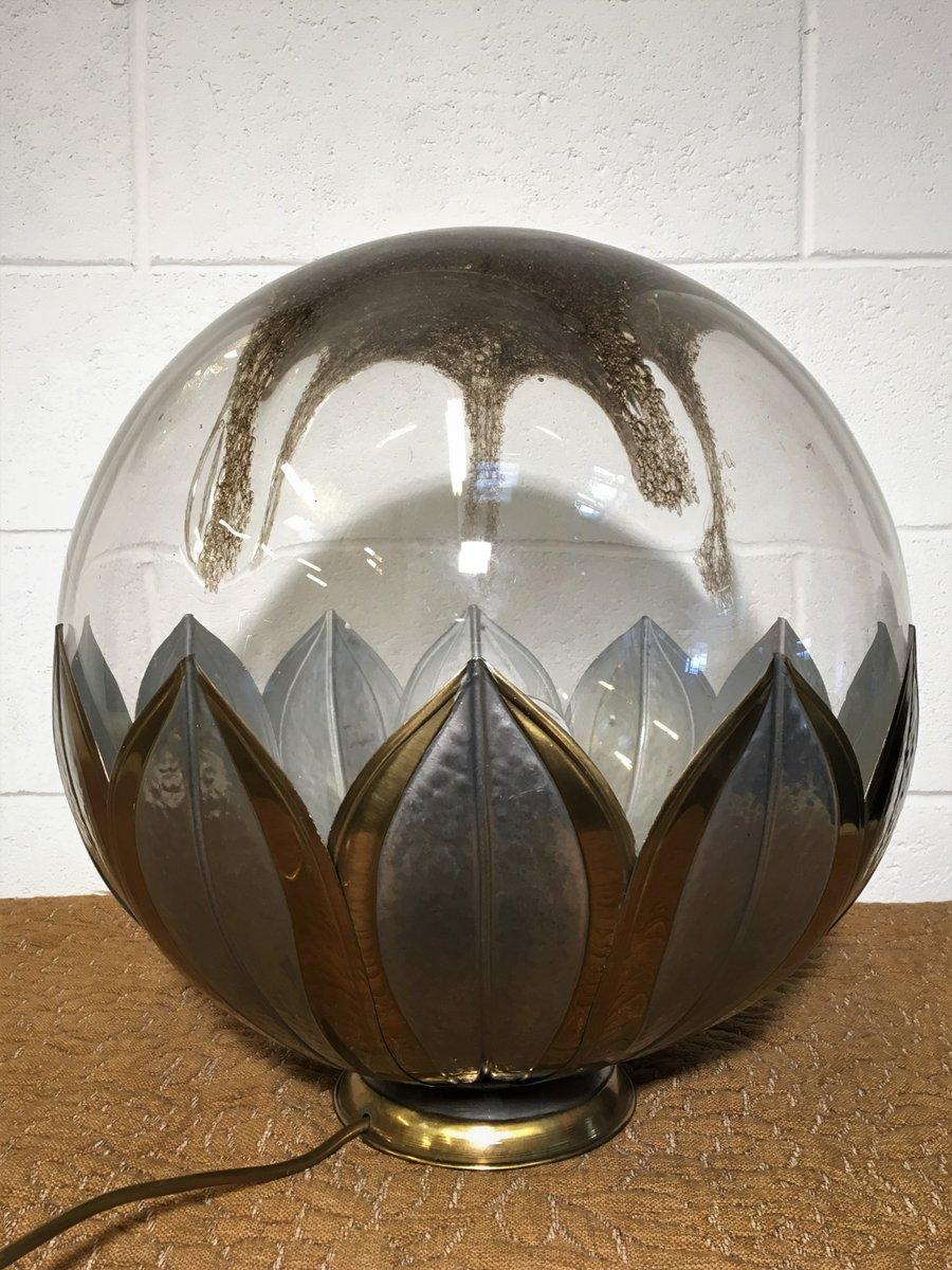 Lampada da tavolo vintage sferica in vetro e metallo italia in vendita su pamono - Lampada da tavolo vintage ...