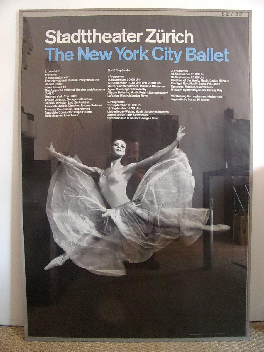 New York City Ballett Poster von Josef Muller-Brockmann, 1962 bei ...
