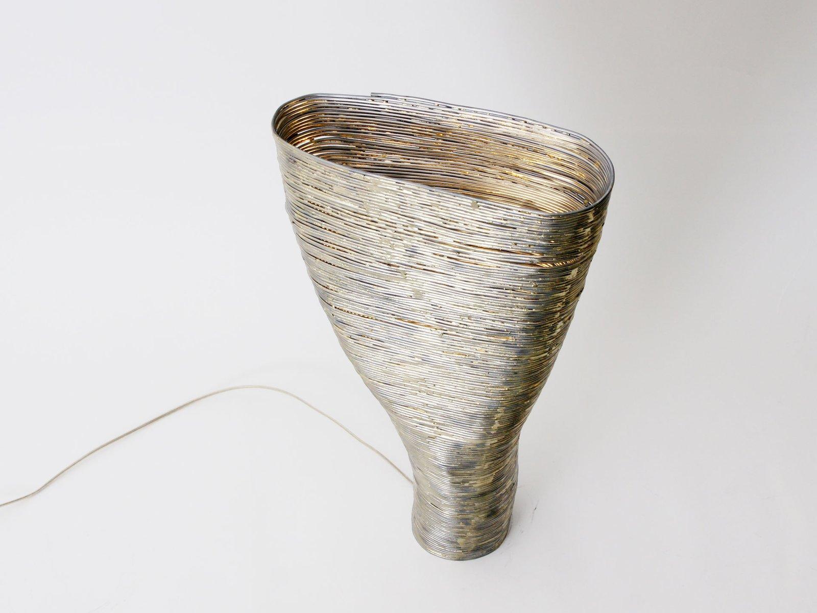Wrap Tischlampe aus Buche & Stahl von Johannes Hemann