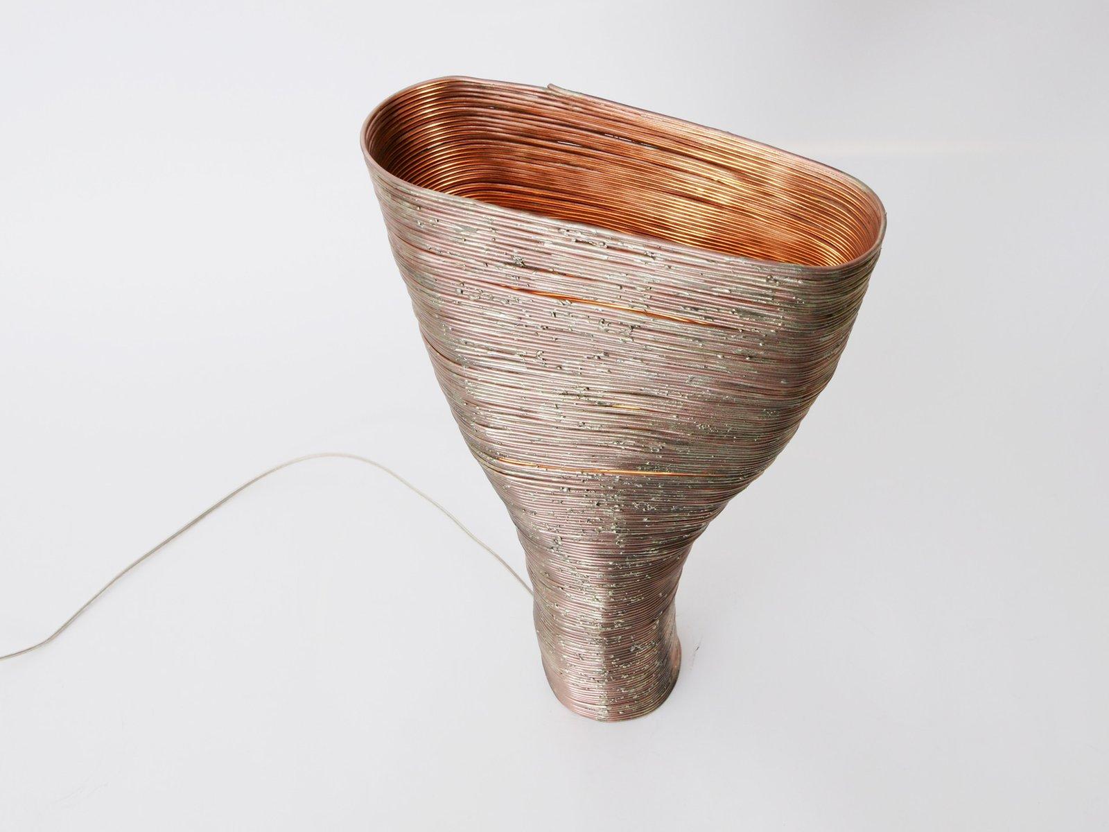 Wrap Tischlampe aus Buche & Kupfer von Johannes...