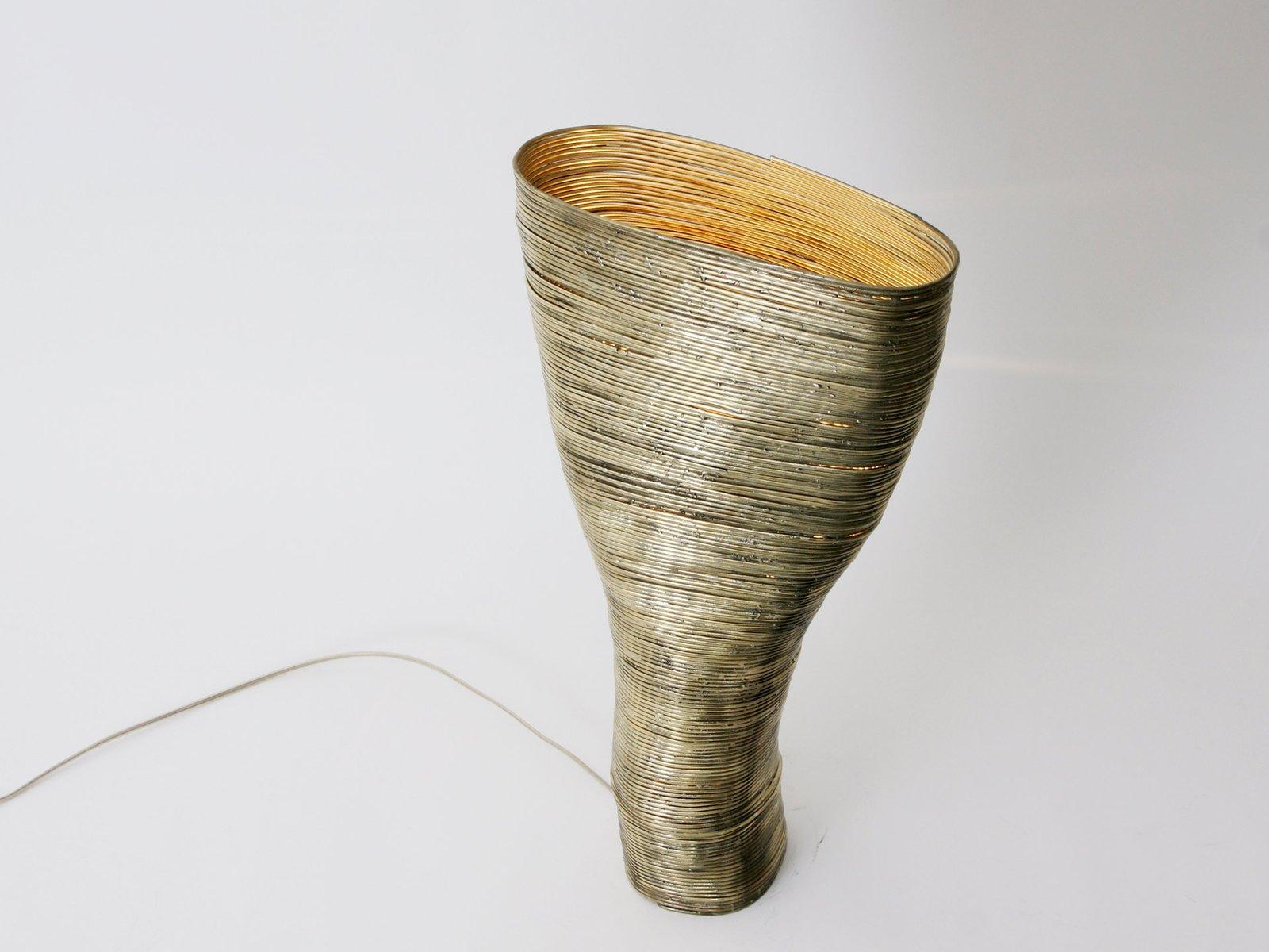 Wrap Tischlampe aus Buche & Messing von Johannes Hemann