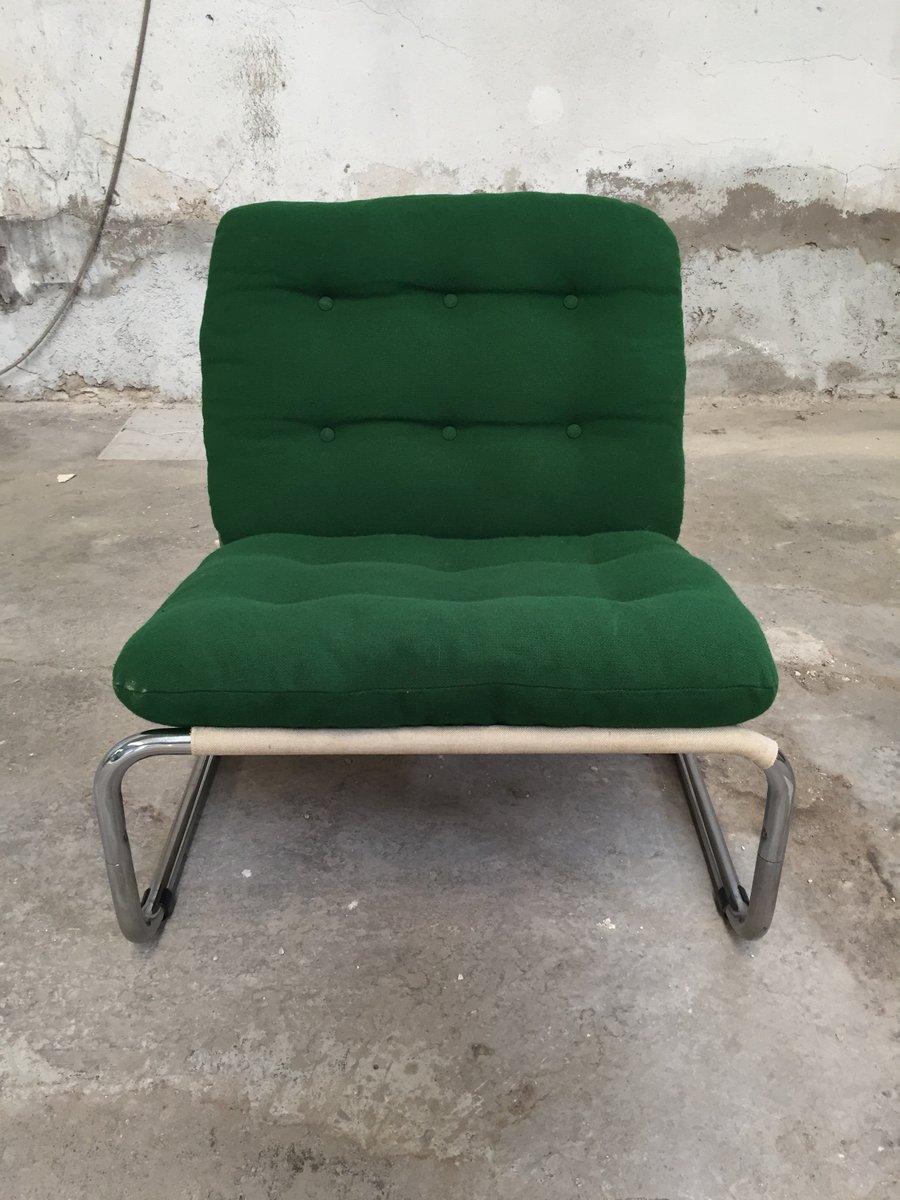 Italienische Sessel Aus Chrom Stoff 1970er 6er Set Bei